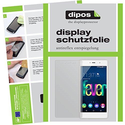 dipos I 2x Schutzfolie matt passend für Wiko Fever 4G Folie Bildschirmschutzfolie