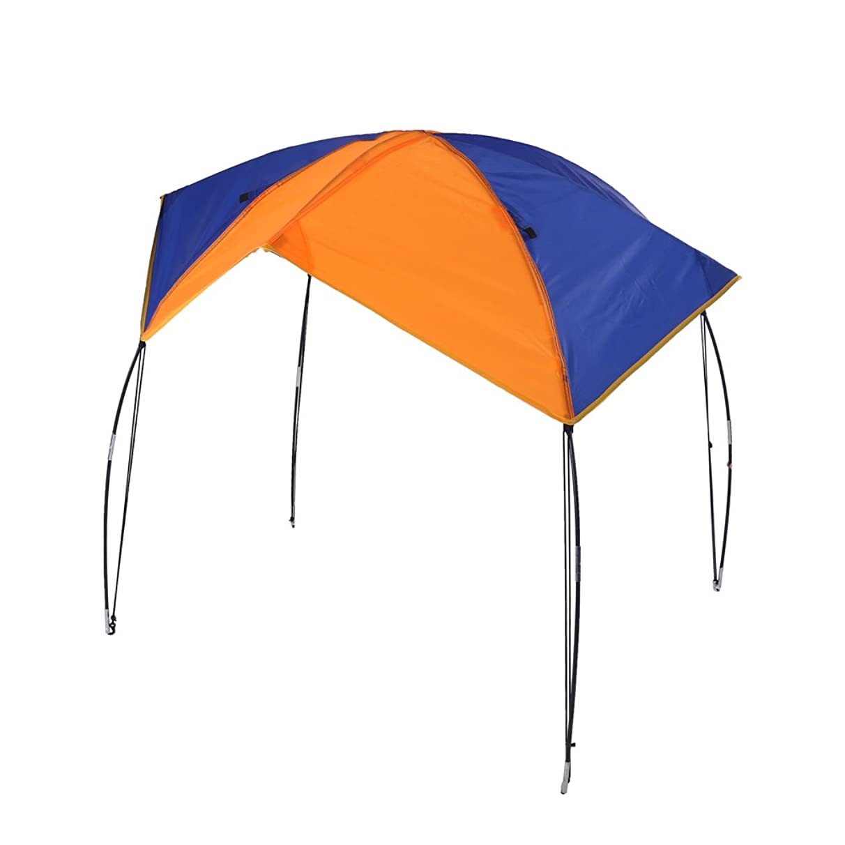 Boat Sun Shade Shelter, 2-4 Persons Quality Lightweight Folding Inflatables Boat Awning Top Cover Fishing Tent with D-Shape Buckles for Camping Fishing