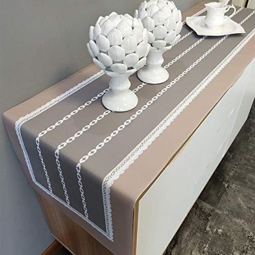 Branfan Nordic moderne tafellopers TV kast Schoenkast eenvoudige effen dressoir deksel handdoek nachtkastje tafelkleden gestreepte kast China 40 * 220cm Geschikt voor eettafel TV kast