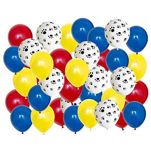 80pcs 12inch Blue White and Red Animal Print Latex Balloon for Birthday Party Decoration Baby Shower Supplies Wedding Ceremony Balloon Anniversary Decorations Arch Balloon Tower (Colorful 01)