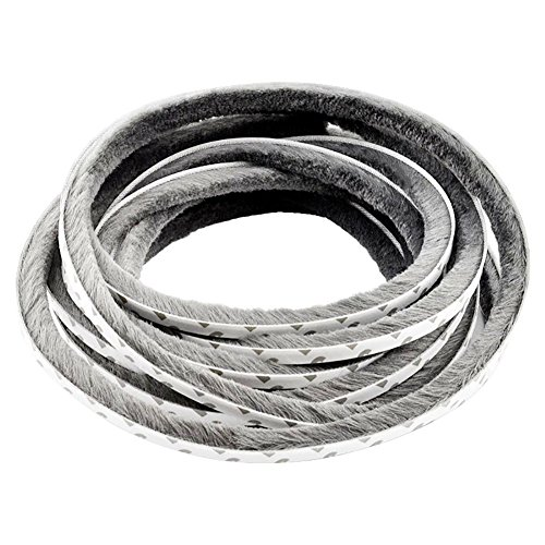 TamBee 787 Inch Self-Adhesive Pile Weatherstrip for Windows & Doors 3/8-Inch x 3/8-Inch x 65.6 ft, (20m, Grey)