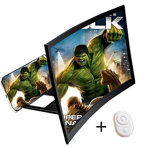 Phone Screen Magnifier, 16in HD Opvouwbaar Universele Scherm Versterker, Gebogen Vergrootglas Projector Stand, 3D Gebogen Gsm-scherm Vergroter, Geschikt For Video Films