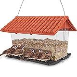 WILDLIFE FRIEND I XL Vogelhaus zum Aufhängen für Wildvögel - Vogelfutterhaus, Vogelfutterspender Wetterfest, Vogelfutterstation, Futterscheune