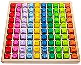 Natureich 1x1 Grande para Alumnos de Primaria / ábaco de Madera / Dados de Colores con tareas / diversión y Juego para genios de Las matemáticas / Aprendizaje fácil
