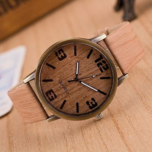 MDYH PTTCC AYSMG Pack de 4 Relojes de imitación de Madera de Cuatro dígitos for Hombres y Mujeres (Color : Color3)