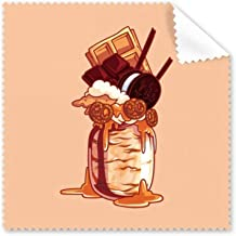 DIYthinker Biscuits Chocolate Bottle Ice Cream Glasses Cloth Cleaning Cloth Phone Screen Cleaner 5Pcs Gift