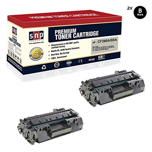 SNP Compatible Toner Cartridge HP 80A CF280A Black Toner, HP 2Black HP 80A CF280A. Compatible with-HP Laserjet Pro 400 M401dne, Pro 400 M401n, Pro 400 M401dn, Pro 400 M401dw, Pro 400 MFP M425dn