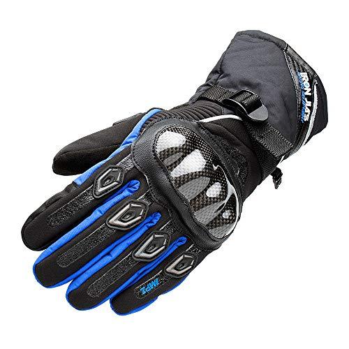 New Egg Motorradhandschuhe 100% Wasserdicht Winter Warm Motorrad Handschuhe Motorradhandschuhe Knuckle mit Touchscreen Funktion für Herren Damen