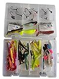 SANDAFISHING Juego de cebos de goma para perca, 7 cm, 8 cm, cebos grandes para lucioperca, accesorios de pesca, anzuelos, anzuelos, anzuelos, señuelos artificiales Twister (percas/lucioperca)