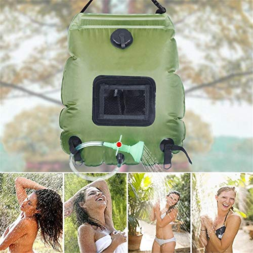 New Loveinwinter Camping Shower Bag 5 Gallons/20L, Portable Solar Shower Bag with Temperature Indica...