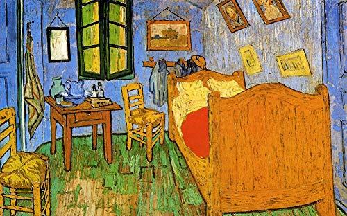 DOUBLETOP Vincent'S Bedroom In Arles-Vincent William Van Gogh'S Famosas Pinturas Al óLeo De 1000 Piezas De CartóN Rompecabezas Para Adultos Hogar DecoracióN De Pared Caja De Rompecabezas