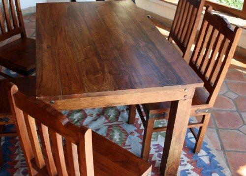 Guru-Shop Tavolo da Pranzo in Stile Coloniale R509 Leggero Senza Accessori - Modello 6, Marrone,...