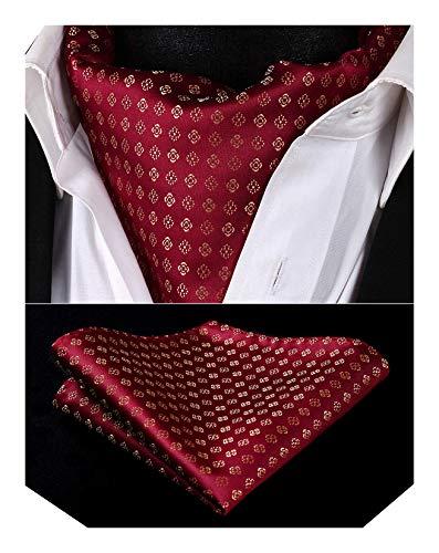 BIYINI Herren Paisley Blumen Ascot Taschentuch Woven Jacquard Krawatte & Einstecktuch Set
