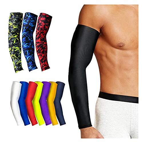 QOXEFPJZ Armstulpen 1 STÜCKE atmungsaktive schnell trockene UV- Schutz läuft Armhülsen Basketball-Ellenbogen- Pad Fitness Armschutz Sport Radfahren Armwärmer (Color : M, Size : M)