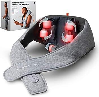 Sharper Image Realtouch Shiatsu Wireless Neck & Back Massager