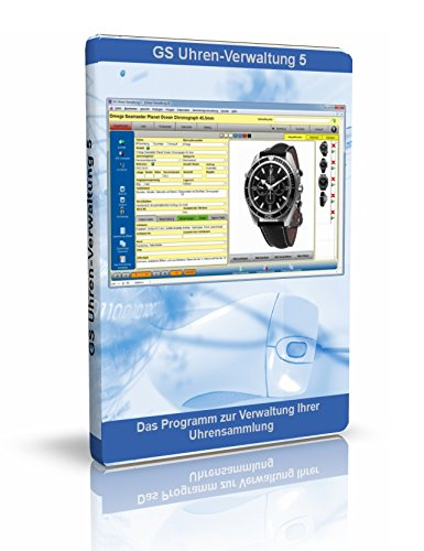 GS Uhren-Verwaltung 5 - Software zur Verwaltung Ihrer Uhrensammlung - Datenbank Programm zur Verwaltung von Uhren