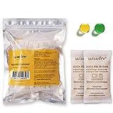 wisedry 20 gramos [12PACKS] Paquetes desecantes de gel de sílice recargable...