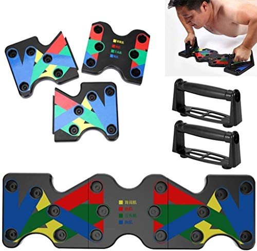 Aoccker 9-In-1 Handle On The Push Push Push Plate Rack, Unique Color-Coded Pusher Plate For Fitness Training, Muscles, Strength Training