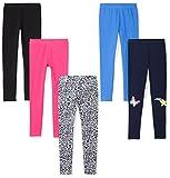 Spotted Zebra Girls' Toddler Leggings, 5-Pack Hearts, 4T