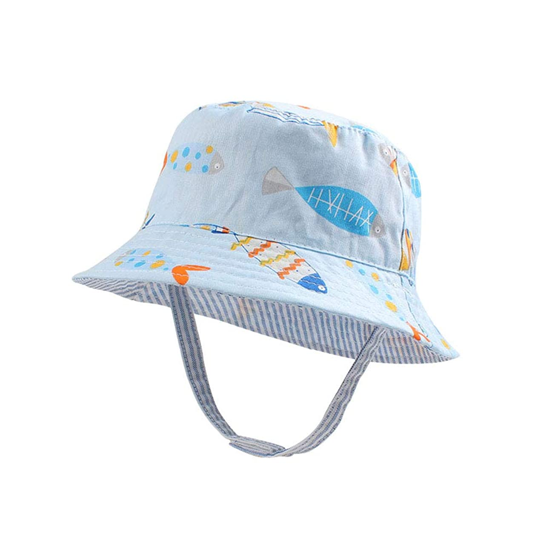 更新オプション側XIAOHAWANGベビー 帽子 サンハット 男の子 サファリハット リバーシブルハット 赤ちゃん 日よけ帽子 つば広 かわいい 動物柄 男の子 春 夏 水遊び