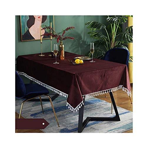 YFZ Green Luxury Velvet Rectangular Tablecloth, Table Clothes Are And 8 Sizes. Rectangular Tablecloth(Size:60 * 60cm,Color:purple)