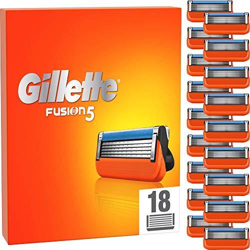 Gillette Fusion5 - Cuchillas de afeitar para hombre (18 unidades, hasta 20 afeitados por hoja)