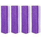 4 unids pie piedra pómez bloque pedicura herramientas para exfoliación púrpura doble cara piedra pómez para pies muertos piel dura removedor limpiador