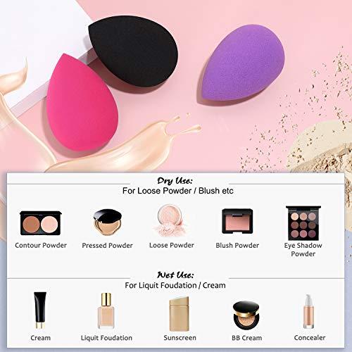Makeup Sponges, Larbois 3-Pack Blender Beauty Foundation Blending Sponge, Professional Beauty Makeup Set for Dry