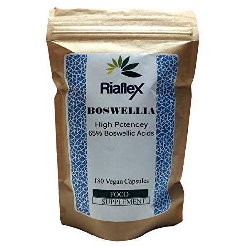 Riaflex Boswellia Serrata 65% | 180 Capsules | High Strength Joint Support Supplement For Dogs