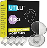Anti Snoring Nose Clip Device - Silicone Magnetic Anti Snore Nose Clip - Kit 4 Anti Snoring Devices - Comfortable Night Snore Nasal Stopper - Sleep Anti Snore Clip for Men and Women