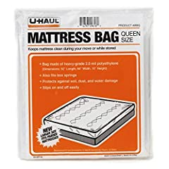 The U-Haul Queen Mattress Bag will keep your mattress or box spring protected against water, dust, soil, and debris during your move or time in storage Made of heavy grade 2.0 mil polyethylene plastic Mattress bag has one opening at the head/foot of ...