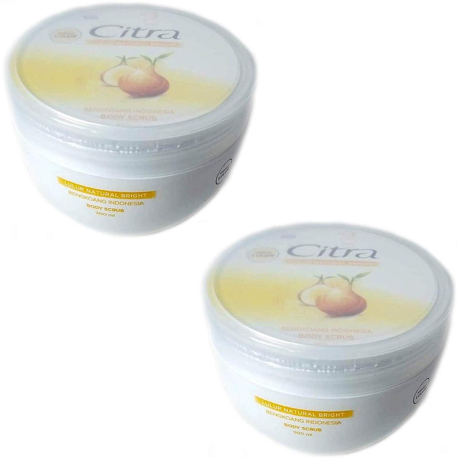 小屋フィード原油Citra チトラ ボディスクラブ Lulur Natural Bright ブンコアン 200ml × 2個セット [海外直送品]