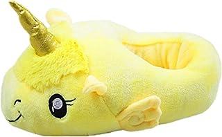 JYSPORT eenhoorn slippers dames pluche knuffelige pantoffels slip on slippers Home pantoffels voor volwassenen Europese ma...