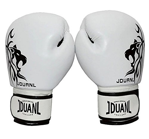 PANDA SUPERSTORE White Leo Kids MMA Boxing Mitts Training Gloves for Muay Thai Kickboxing, 3-9Yrs
