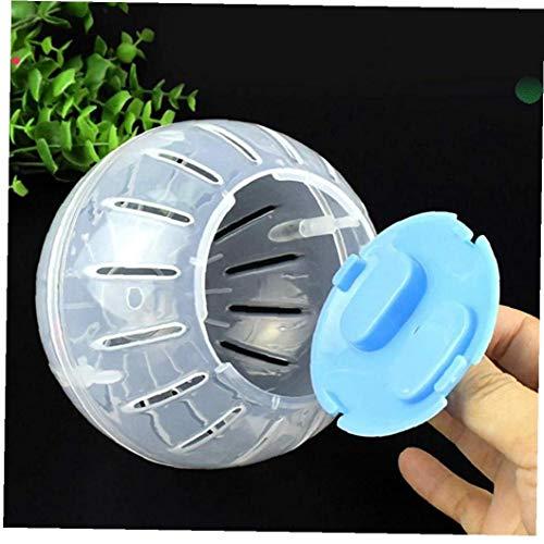 Uayasily De plástico Pet Ronda BallHamster Ratones de Juguete Transparente hámster pequeña Bola Animales Accesorios Jaula