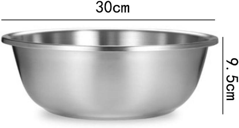 304 en acier inoxydable de la maison ronde plus épaisse de la soupe bassin de lavage des légumes pots de cuisine combattre le pot à œufs 26 cm. 26 Cm.