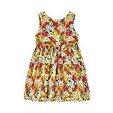Mayoral Vestido sin mangas con estampado de frutas para niña, color caqui 3929 Cachi 3 años