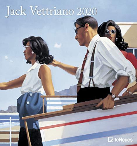 Jack Vettriano 2020 - Kunstkalender - 45x48cm - Wandkalender mit zeitgenössischer Kunst: teNeues - Spiralbindung