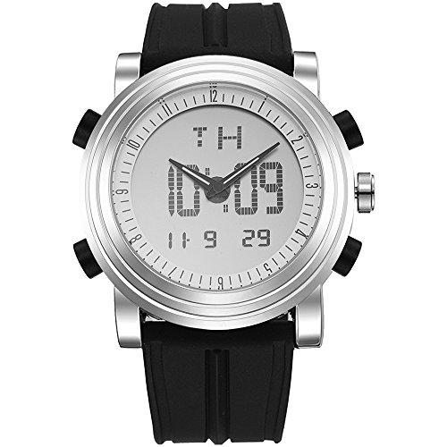 BUREI Sport Armbanduhr mit Alarm und Stoppuhr