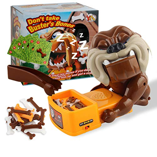 Don't Wake The Dog Toys,Bad D-o-g Board Game,Flake Out Bad D-o-g Bones Cards,Electronic Pet Dog Toys Beware of The Dog Tabletop Game Funny Parent Child Interactive Kids Family Toys