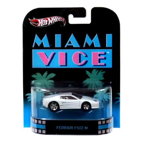 Hot Wheels Miami Vice Ferrari F512M Die Cast Car