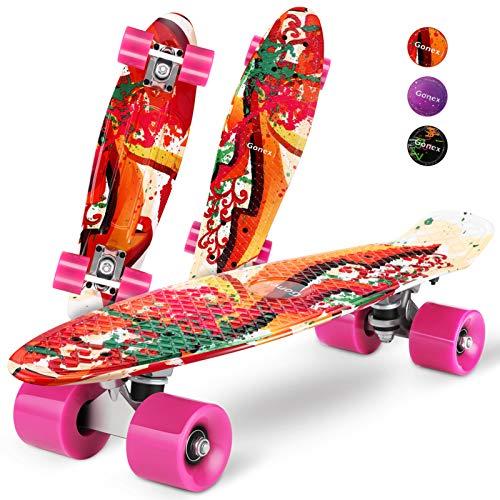 Gonex Mini Cruiser Skateboard, Complete 22 Inches Plastic...