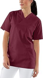 Kurzarm und Tasche JJsmile Damen Pflege f/ür Krankenschwester Schlupfkasack Kasack Damen Pflege