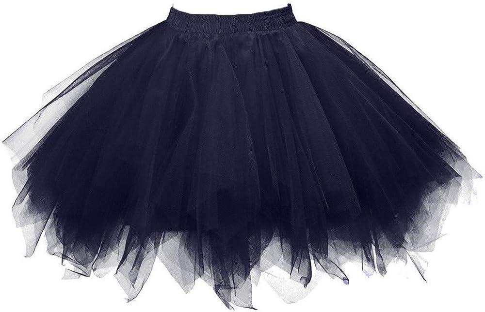 MODOQO Tutu Skirt for Women Casual Fashion High Waist Pleated Party Dance Mini Skirts