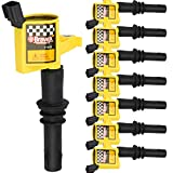 High Performance Pack of 8 Straight Boot Ignition Coils for Ford Lincoln Mercury V8 V10 4.6l 5.4l 6.8l...