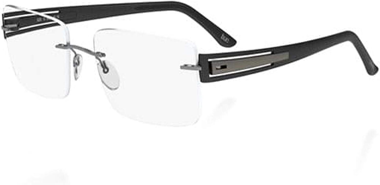 Silhouette Rx Eyeglasses 5228 6055 Titan SPX Connection  Black 52286055