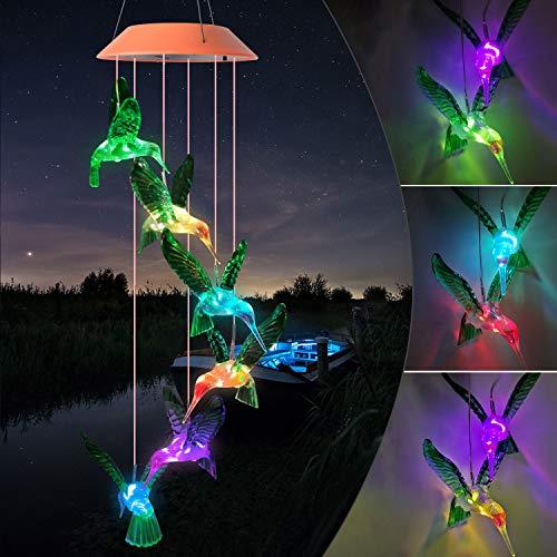 JOBOSI - Campanas de viento para mamá, diseño de colibrí, color rojo, verde