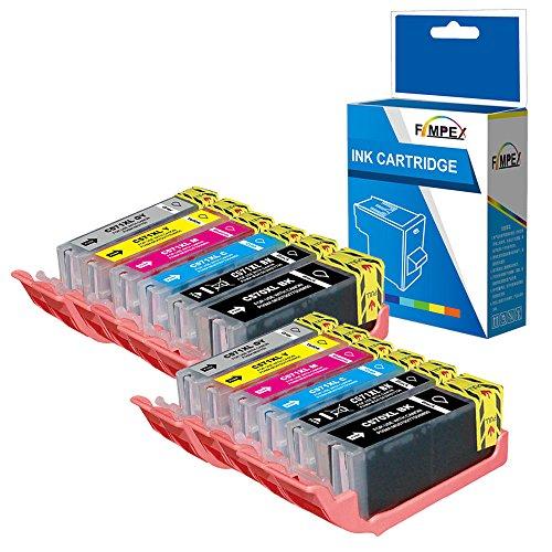 Fimpex Compatible Tinta Cartucho Reemplazo Para Canon Pixma MG7750 MG7751 MG7752 MG7753 TS8050 TS8051 TS8052 TS8053 PGI570/CLI571 (Negro/Foto-Negro/Cyan/Magenta/Amarillo/Gris, 12-Pack)