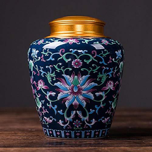 Ksnrang Keramik-Teedosen, emaillierte kandierte Obstdosen, allgemeine Aufbewahrungsdosen, Sammlung hochwertiger Geschenksets, Private Anpassung-Klassische Blue-Single Dose