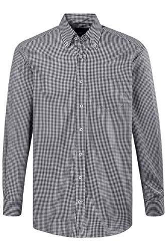 JP 1880 Herren große Größen Hemd, Langarm, Comfort Fit, Buttondown-Kragen schwarz 3XL 703646 10-3XL